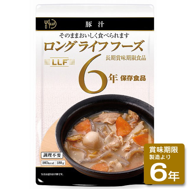 送料無料 ロングライフフーズ 豚汁50食入/箱(非常食、保存食)