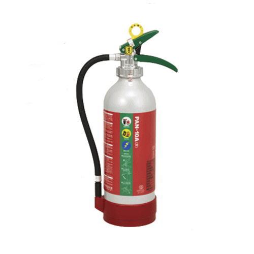 送料無料 エコアルミABC粉末消火器PAN-10A(4)(アルミ製)掛金対応品 リサイクルシール付
