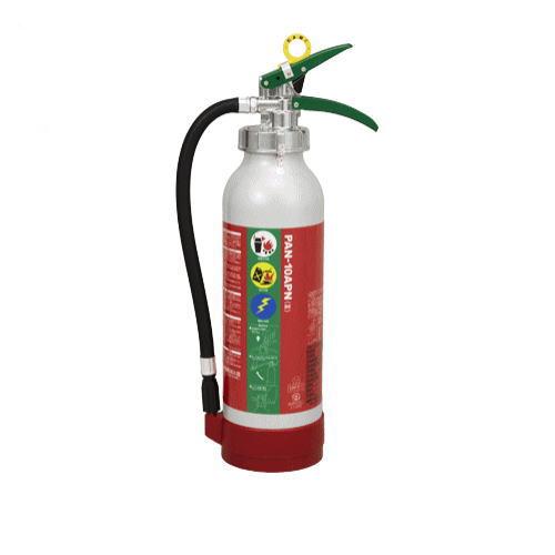 送料無料 エコアルミABC粉末消火器PAN-10APN(3)(アルミ製)掛金対応品 リサイクルシール付