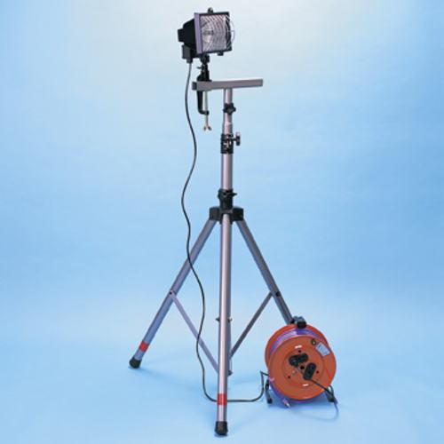【送料無料】ハロゲン投光器セット 【投光器300W、三脚、コードリールの3点セット】