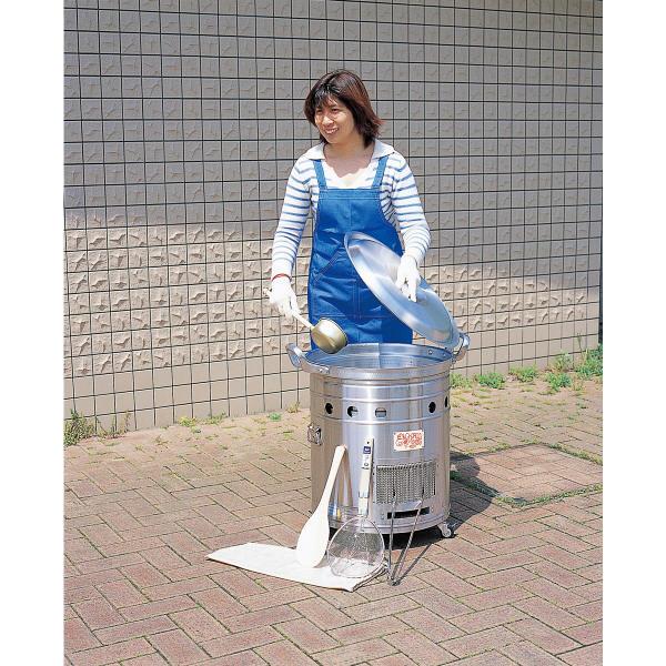 【送料無料】大型炊き出し器 まかないくん30型(かまど、料理、食事)メーカー直送の為代金引換はご利用できません。