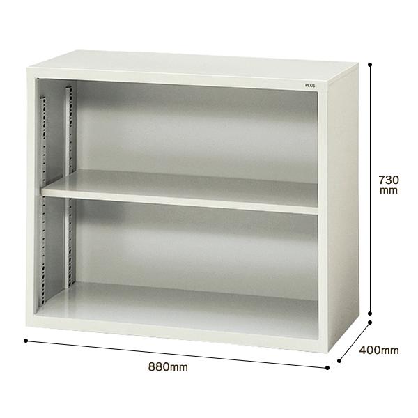 【書庫 】PLUS保管庫 A4対応 書庫 オープン上置き用 18401 SO-302R W880・D400・H730 (代引決済不可商品)