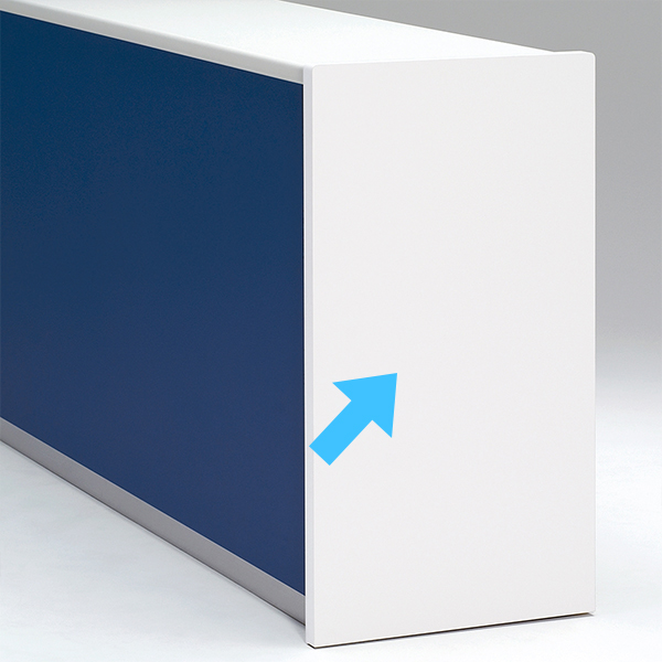 受付 カウンター ハイカウンターサイドパネル PLUS DK クリーンパネル PLUS DK 送料無料(代引決済不可商品)