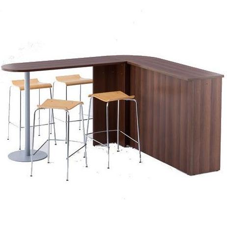 受付 カウンターにも接続 受付 カウンターテーブル ハイカウンター 2色 (写真は利用例)木製 RFHCST-1445NA RFHCST-1445DM W450 D1400 H1000
