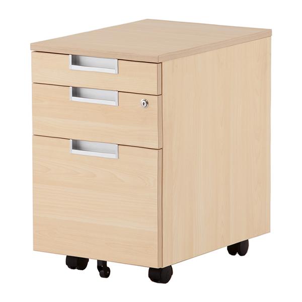インサイドワゴン 木製デスク用ワゴン サイドキャビネット (代引決済不可商品)