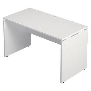Garage 長方形タイプ W1200×D600 ホワイト AF-126H デスク パソコンデスク オフィスデスク 木製 シンプル 412616