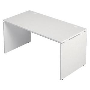 ■5/28在庫切:Garage 長方形タイプ W1400×D700 ホワイト AF-147H デスク パソコンデスク オフィスデスク 木製 シンプル 412621