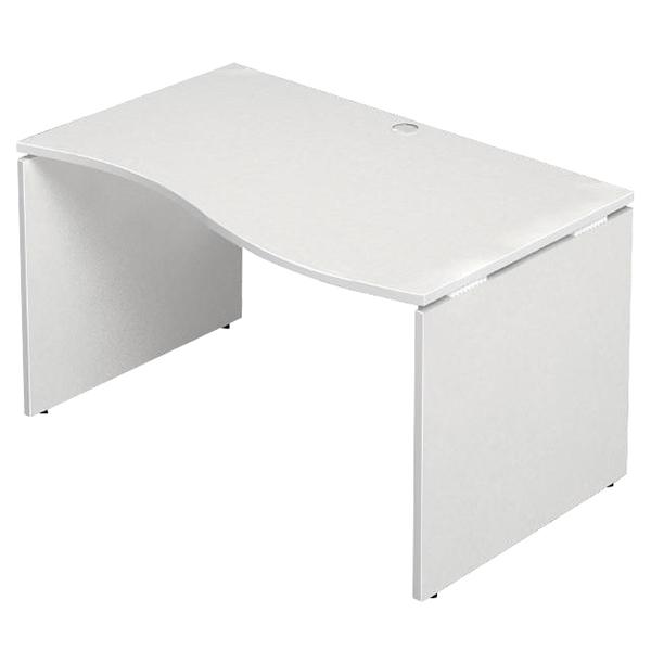 ■5/15在庫切:Garage 波型タイプ 右 W1200×D760 ホワイト AF-127NH-R デスク パソコンデスク オフィスデスク 木製 シンプル 412625
