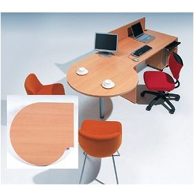Garage fantoni GF【木目】連結テーブル 変形円型 ミーティングテーブル 家具 オフィス デスク ガラージ GF-100ST-L 415397