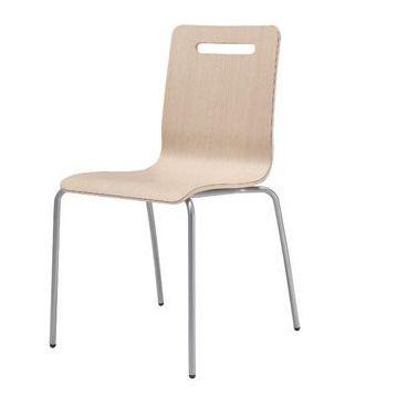 Garage 会議椅子 ミーティングチェア チェアKN-1D 木目 410209