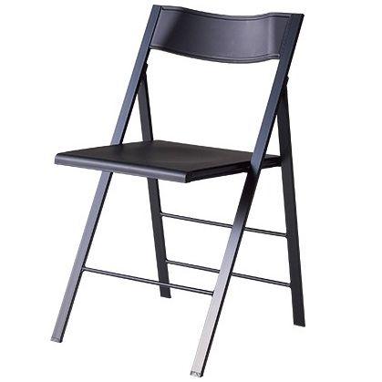 乞在庫確認 Garage 薄型 折り畳み椅子 ブラック チェアポケット FC-PCC スタッキングチェア