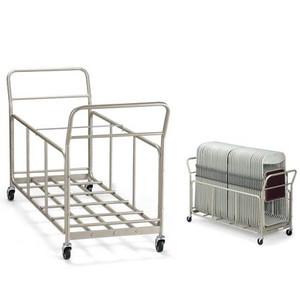 折り畳み椅子 用台車 D-46 有効間口505mm H1550mm (代引決済不可商品)