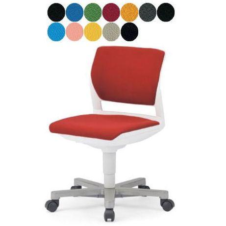 AICO 事務椅子 肘なし 回転 5本脚タイプ デスクチェア NEW MC-257W/G 座W585 H755~ 3台以上更にお安く! 送料無料(代引決済不可商品)