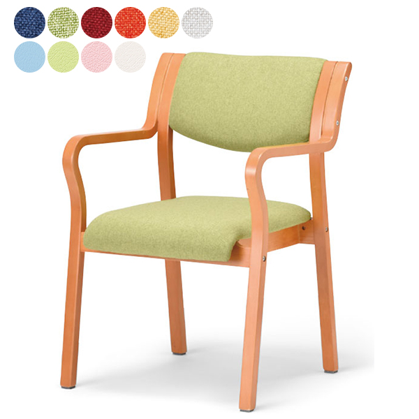 NEW 介護用椅子 角背タイプ 布張り/ビニールレザー 人気の肘付きタイプ 福祉用椅子 チェア 全10色 送料無料 3脚以上さらに↓ MW-310(代引決済不可商品)