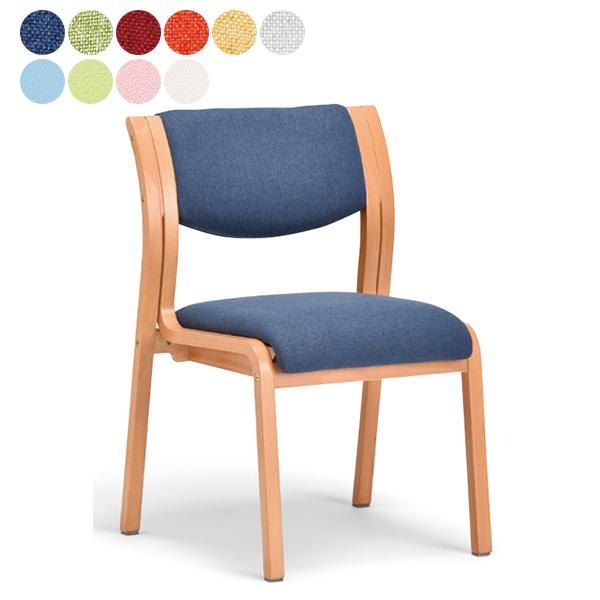 NEW 介護用椅子 布張り/ビニールレザー 肘なしタイプ 福祉用椅子 木製チェア 全10色 送料無料 3脚以上さらに↓ MW-311(代引決済不可商品)