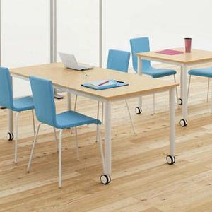 チェア:在庫お問合せ キャスター付テーブル/椅子4脚セット RFCTT-WL1680 (代引決済不可商品)