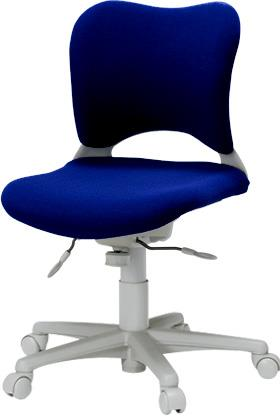 パソコンチェア 腰痛対策 事務椅子 カーペット床仕様 ローバック Garageイス 青 410681