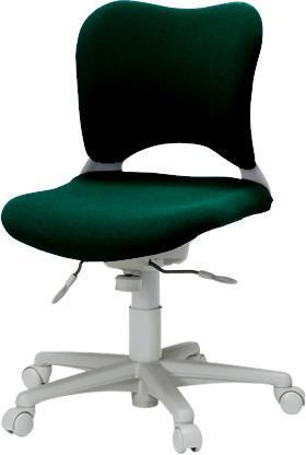 パソコンチェア 腰痛対策 事務椅子 カーペット床仕様 ローバック Garageイス 緑 410683