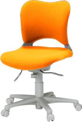 パソコンチェア 腰痛対策 事務椅子 カーペット床仕様 ローバック Garageイス 橙 410684