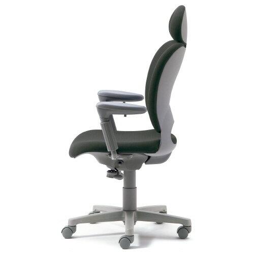 腰痛対策の事務椅子 パソコンチェア アジャスト肘付 エクストラハイバック ミディアムグレー【納期2W】 KD-Z10SEL (代引決済不可商品)