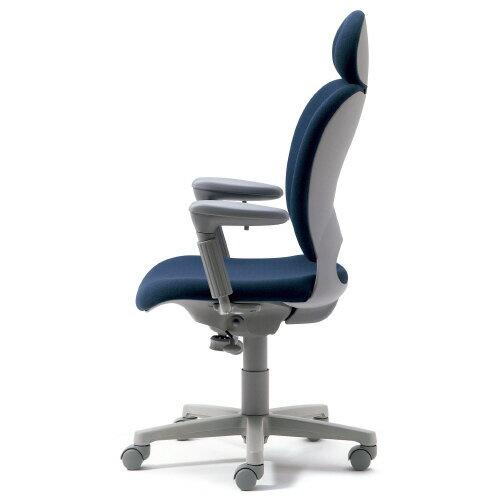 腰痛対策の事務椅子 パソコンチェア アジャスト肘付 エクストラハイバック ブルー【納期2週間】 KD-Z10SEL (代引決済不可商品)