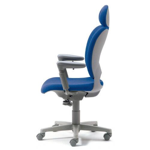 腰痛対策の事務椅子 パソコンチェア アジャスト肘付 エクストラハイバック ライトブルー 【納期2W】 KD-Z10SEL