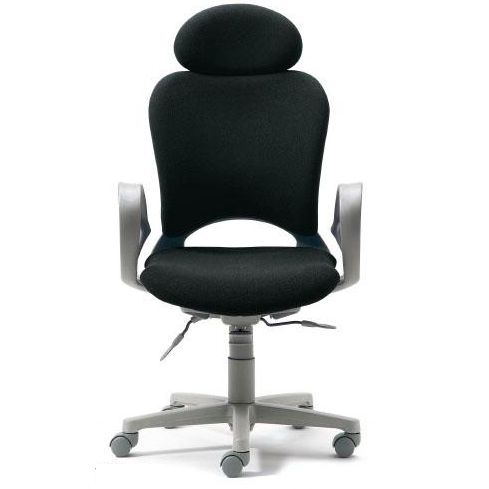 腰痛対策の事務椅子 パソコンチェア ループ肘付 エクストラハイバック 黒 【納期2W】 KB-Z10SEL (代引決済不可商品)