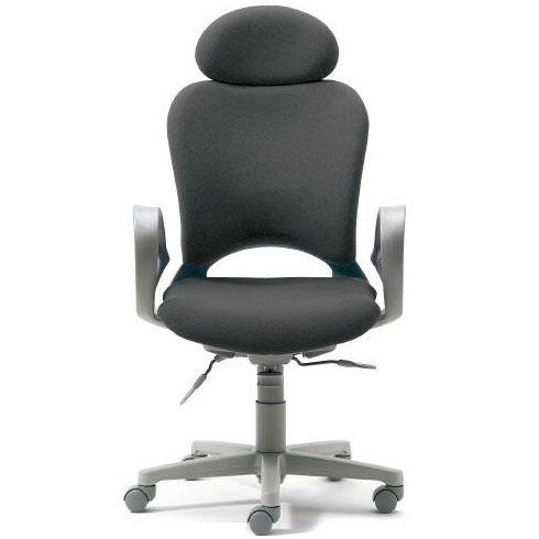 腰痛対策の事務椅子 パソコンチェア ループ肘付 エクストラハイバック ミディアムグレー 【納期2W】 KB-Z10SEL