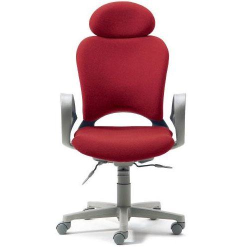 腰痛対策の事務椅子 パソコンチェア ループ肘付 エクストラハイバック レッド 【納期2W】 KB-Z10SEL (代引決済不可商品)