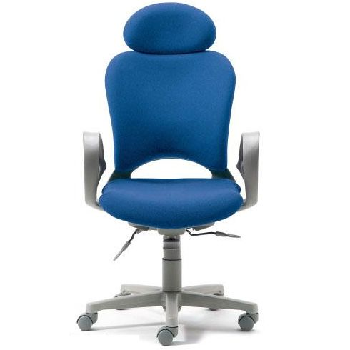 腰痛対策の事務椅子 パソコンチェア ループ肘付 エクストラハイバック ライトブルー 【納期2W】 KB-Z10SEL (代引決済不可商品)