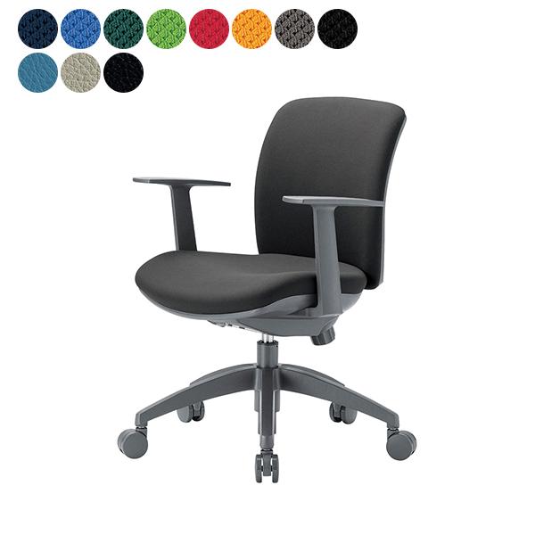 事務椅子 ローバック T型肘タイプ オフィス チェア OA-2115TJ W600×H800~ 3台以上で更にお安く