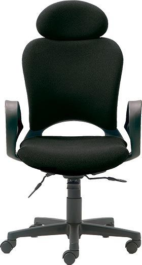 腰痛対策の事務椅子 パソコンチェア ループ肘付 エクストラハイバック 黒 【納期2W】 KB-Z20SEL (代引決済不可商品)