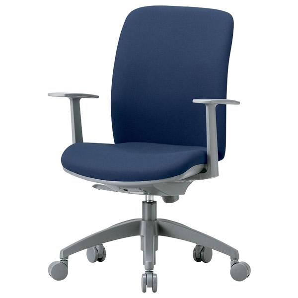 事務椅子 ミドルバック肘付きタイプ T型肘 オフィス チェア OA-2135TJ 座W480 H895~ 3台以上で更にお安く