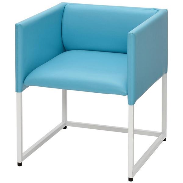 アウトレット価格 ループ脚応接チェア ブルー RFC-FPRP-LPBL 椅子 オフィス家具 会議用 ミーティングチェア(代引決済不可商品)