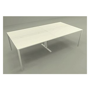 OAミーティングテーブル Garage 1200mm天板×2 幅2400×奥行き1200mm MP-2412SS 415593