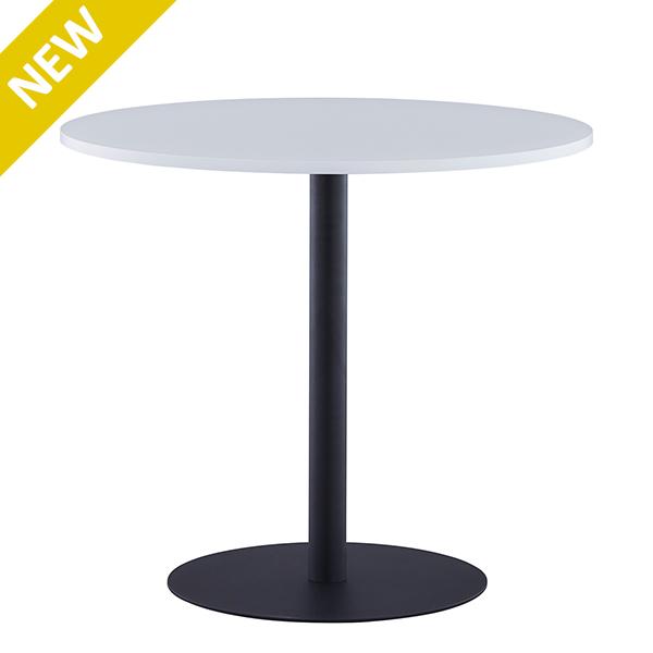 リフレッシュテーブル3 φ800 ホワイト ブラック脚 2~4人用 丸テーブル エントランス 商談スペース ロビー RFRT3-800WH-BL(代引決済不可商品)