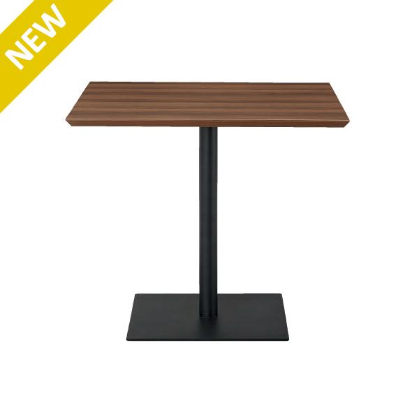 リフレッシュテーブル スクエア W800×D800 ウォルナット ブラック脚 コーヒータイム ミーティング 商談スペース ロビー RFRT-800SDM J740617(代引決済不可商品)