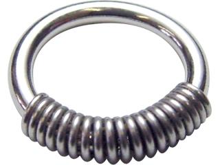 ボディピアス サージカルステンレス ボディーリング ボディーピアス コブラコイル Ring Coil 信託 14G 14ゲージ ショッピング Cobra