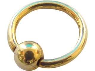 海外限定 G23外科用チタニウムに 高級感があり耐久性に優れたゴールドのPVD 物理蒸着法 コーティングを施したボディジュエリーです チタニウム 激安通販ショッピング ジルコンボールクローザーリング Zircon Ball PIERCE Closure 14ゲージ titanium Rings BODY ボディーピアス 14G