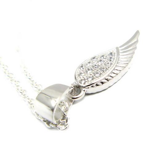 2f6acbca90e00 Silver 925 Swarovski wing necklace ladies silver Swarovski 925 necklace