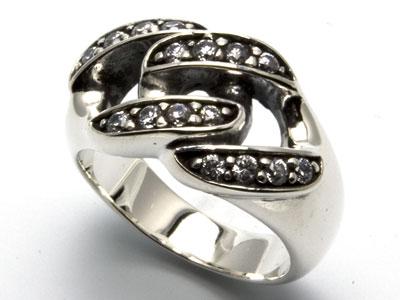 メンズリング/シルバー925/キュービック/チェーンリング/メンズ/リング/指輪