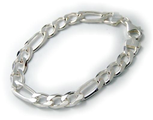 シンプルなシルバーブレスレットが手首で映える 出群 シルバーブレスレット メンズ 正規品 フィガロチェーンブレスレット Silver925 シルバー925