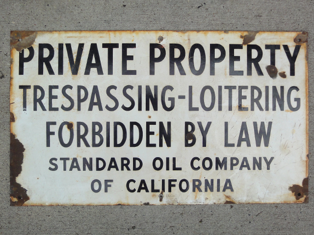 ヴィンテージサイン PRIVATE PROPERTY vintage sign スタンダード・オイル