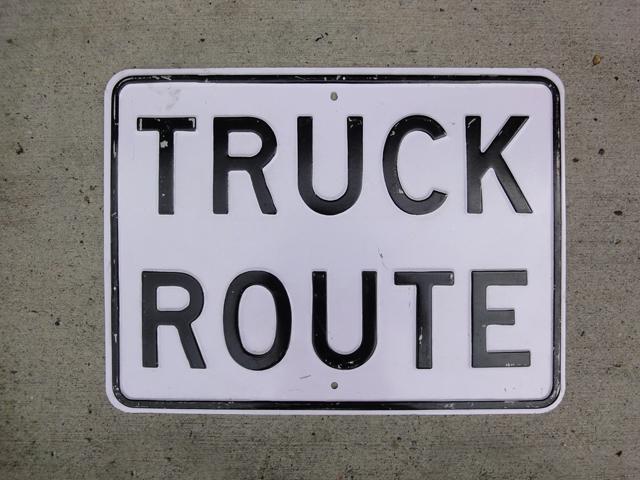 ヴィンテージサイン TRUCK ROUTE vintage sign トラックルート