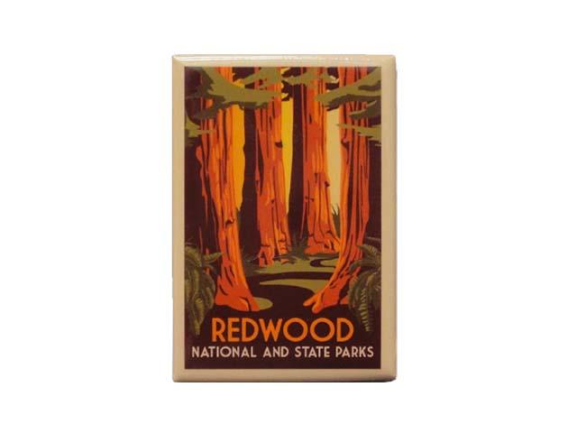 好評受付中 REDWOOD ファッション通販 NATIONAL AND STATE PARKS マグネットレッドウッド国立 州立公園 MAGNET