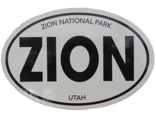 ZION NATIONAL 保障 PARK Oval ステッカー ザイオン スピード対応 全国送料無料 Sticker