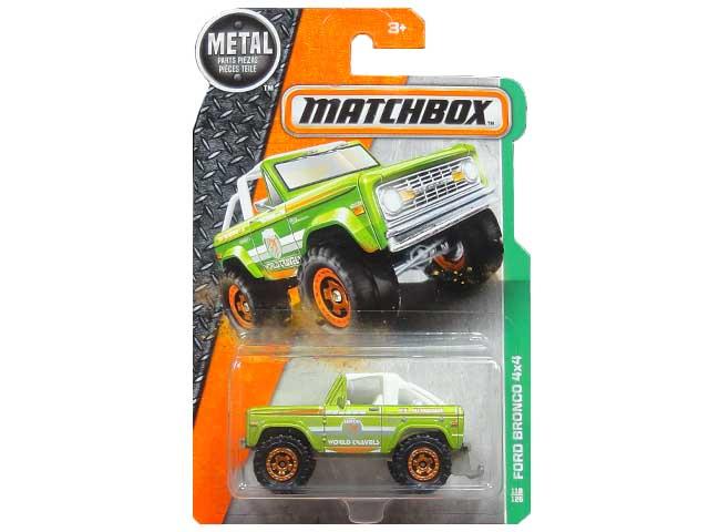 MATCHBOX MBX EXPLORERS FORD レビューを書けば送料当店負担 BRONCO 4×4 マッチボックス フォード グリーン ミニカー ブロンコ 輸入