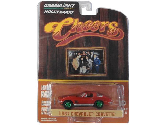 正規逆輸入品 GREENLIGHT HOLLWOOD 1967 CHEVROLET CORVETTE GREEN 税込 Cheers WHEELS グリーンライト ミニカー