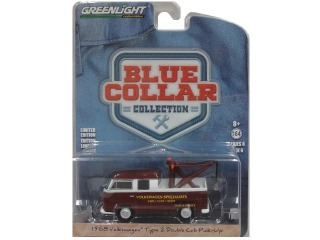 GREENLIGHT BLUE COLLAR COLLECTION 1968 Volkswagen Type 2020新作 2 Double Cab SERIES 6 64サイズ ミニカー 1 買い物 グリーンライト Pick-up