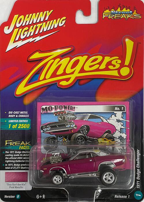 JOHNNY LIGHTNING Street FREAKS Zingers 別倉庫からの配送 ジョニーライトニング 1971Dodge 希望者のみラッピング無料 Challenger